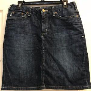bf8e11ec62 Carhartt blue jeans skirt size 6 midi skirt.